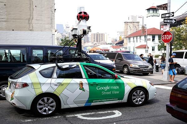 Google Maps Street View car in Brooklyn