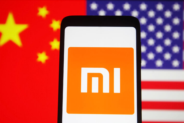 In this photo illustration, Xiaomi logo is seen on a Xiaomi